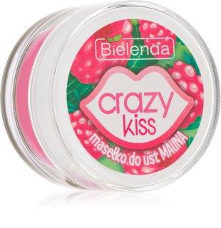 Bielenda Crazy Kiss Raspberry pflegende Butter für die Lippen