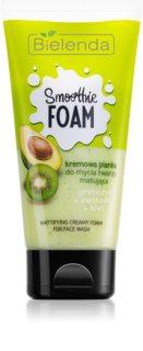 Bielenda Smoothie Prebiotic + Avocado + Kiwi tónico de limpeza matificante em espuma