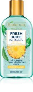 Bielenda Fresh Juice Pineapple apa cu particule micele pentru o piele mai luminoasa