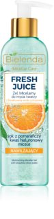 Bielenda Fresh Juice Orange почистващ мицеларен гел с хидратиращ ефект
