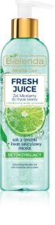 Bielenda Fresh Juice Lime gel de limpeza micelar