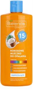 Bielenda Bikini Coconut latte abbronzante idratante SPF 15