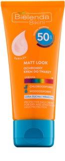 Bielenda Bikini Matt Look προστατευτική κρέμα προσώπου SPF 50