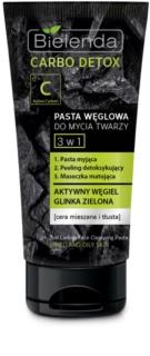 Bielenda Carbo Detox Active Carbon pasta oczyszczająca z aktywnym węglem 3 w 1