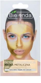 Bielenda Metallic Masks Gold Detox maschera rigenerante e detossinante per pelli mature