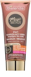 Bielenda Magic Bronze crema autoabbronzante per pelli scure effetto idratante