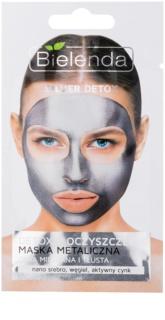 Bielenda Metallic Masks Silver Detox maschera detossinante e detergente per pelli grasse e miste