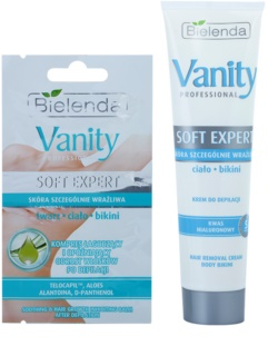 Bielenda Vanity Soft Expert krema za depilaciju tijela s hidratantnim učinkom