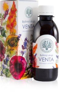Bilegria Bylinný sirup Venta na podporu odhlenění doplněk stravy  pro normální funkci dýchacího systému