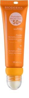 Bioderma Photoderm Bronz DUO Sunscreen Fluid and Lip Balm SPF 50+