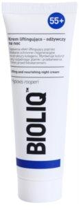 Bioliq 55+ εντατική κρέμα νύχτας για αναγέννηση και ανανέωση επιδερμίδας