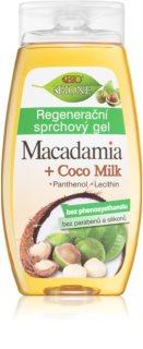 Bione Cosmetics Macadamia + Coco Milk регенериращ душ гел