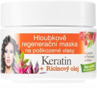 Bione Cosmetics Keratin + Ricinový olej Regenerating Hair Mask