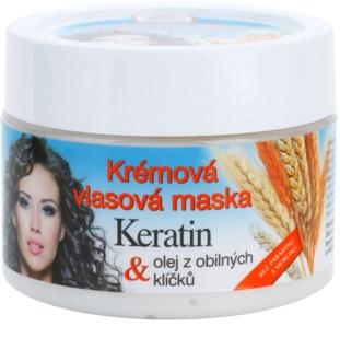 Bione Cosmetics Keratin Grain máscara cremosa para todos os tipos de cabelos