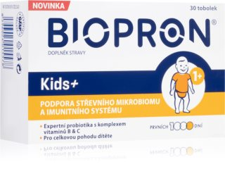 Biopron Kids+ probiotika a prebiotika s vitamíny B a C