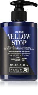 Black Professional Line Yellow Stop тонер за неутрализиране на жълтите тонове