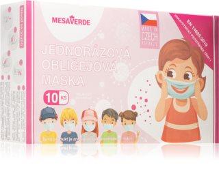 Blackstar media s.r.o. Jednorázová obličejová maska dětská dívka dětské jednorázové roušky