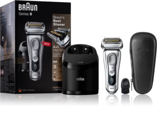 Braun Series 9 9390cc Silver with Clean&Charge System rasoio a lama