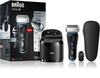 Braun Series 8 8385cc Black with Clean&Charge System rasoir à grilles flottantes