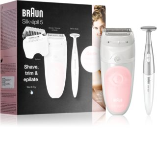Braun Silk-épil 5  5-820 depiladora + cortavellos para la línea del bikini