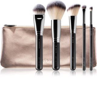 BrushArt Professional Eye & Face Brush set Set čopičev s torbico za ženske