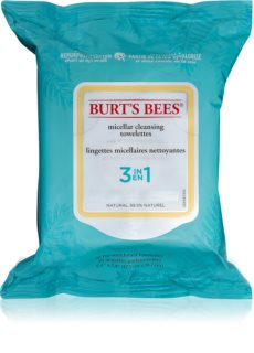 Burt's Bees White Cipress Oil micellaire remover tissues 3in1