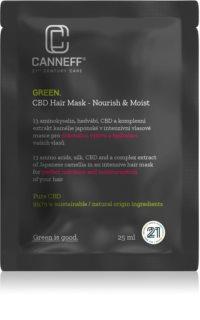 Canneff Green CBD Hair Mask αναγεννητική και ενυδατική μάσκα για τα μαλλιά