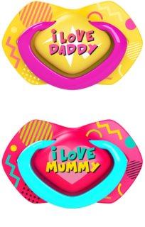Canpol babies Neon Love B 6-18m πιπίλα Pink