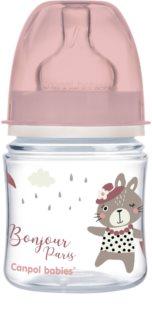Canpol babies Bonjour Paris babyfles 0m+ Pink