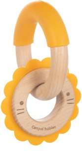 Canpol babies Teethers Wood-Silicone bitring Lion