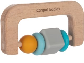 Canpol babies Teethers Wood-Silicone bitring