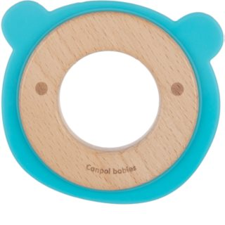 Canpol babies Teethers Wood-Silicone rágóka Bear