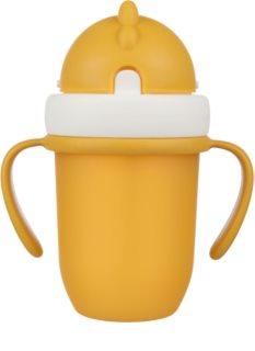 Canpol babies Matt κύπελλο με καλαμάκι 9+ m Yellow