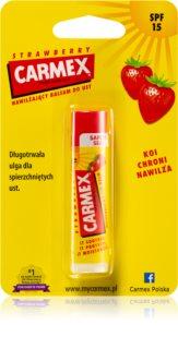 Carmex Strawberry хидратиращ балсам за устни в тубичка SPF 15