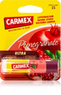 Carmex Pomegranate hydratačný balzam na pery v tyčinke SPF 15