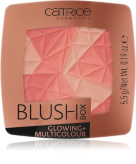 Catrice Blush Box Glowing + Multicolour  highlighter i rumenilo u jednom