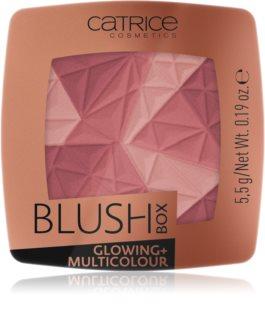 Catrice Blush Box Glowing + Multicolour  освежаващ руж