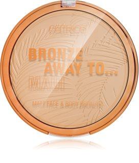 Catrice Bronze Away To Maui Rusketusvoide Kasvoille ja Vartalolle