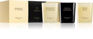 Cereria Mollá Boutique Basil & Mandarin, Bergamotto di Calabria, Velvet Wood confezione regalo III