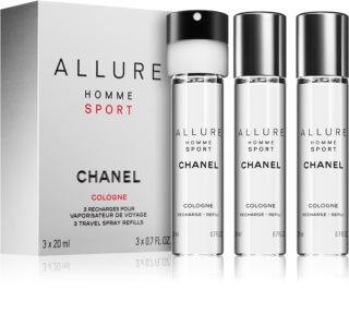 Chanel Allure Homme Sport Cologne kolínska voda (3 x náplň) pre mužov