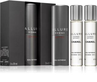 Chanel Allure Homme Sport Eau Extreme тоалетна вода (1 бр. зареждащ се + 2 бр. пълнеж) за мъже