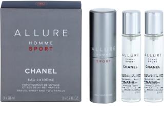 Chanel Allure Homme Sport Eau Extreme toaletná voda (1x plniteľná + 2x náplň) pre mužov