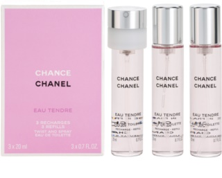 Chanel Chance Eau Tendre woda toaletowa (3 x napełnienie) dla kobiet