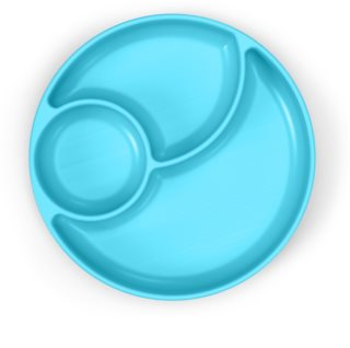 Chicco Take Eat Easy talíř 12m+ Blue