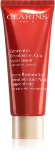 Clarins Super Restorative Décolleté and Neck Concentrate creme antirrugas refirmante para pescoço e decote