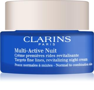 Clarins Multi-Active crema notte rivitalizzante per le prime rughe per pelli normali e miste