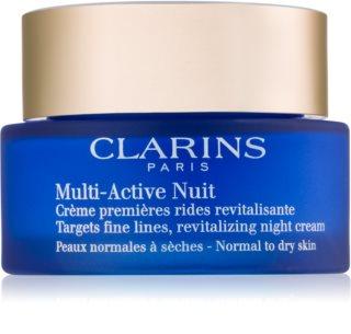 Clarins Multi-Active Night αναζωογονητική κρέμα νύχτας για λεπτές γραμμές για κανονική και ξηρή επιδερμίδα