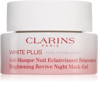Clarins White Plus Pure Translucency Brightening Revive Night Mask-Gel озаряваща нощна маска