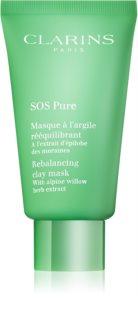 Clarins SOS Pure ílová maska pre zmiešanú až mastnú pokožku