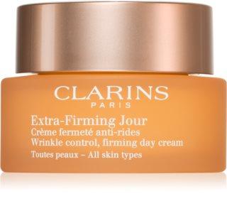 Clarins Extra-Firming Day дневен лифтинг крем против бръчки за всички типове кожа на лицето